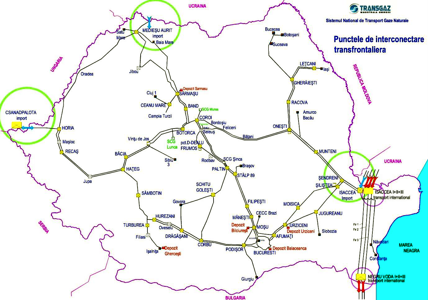 Romania's Natural Gas Infrastructure|Natural gas infrastructure in